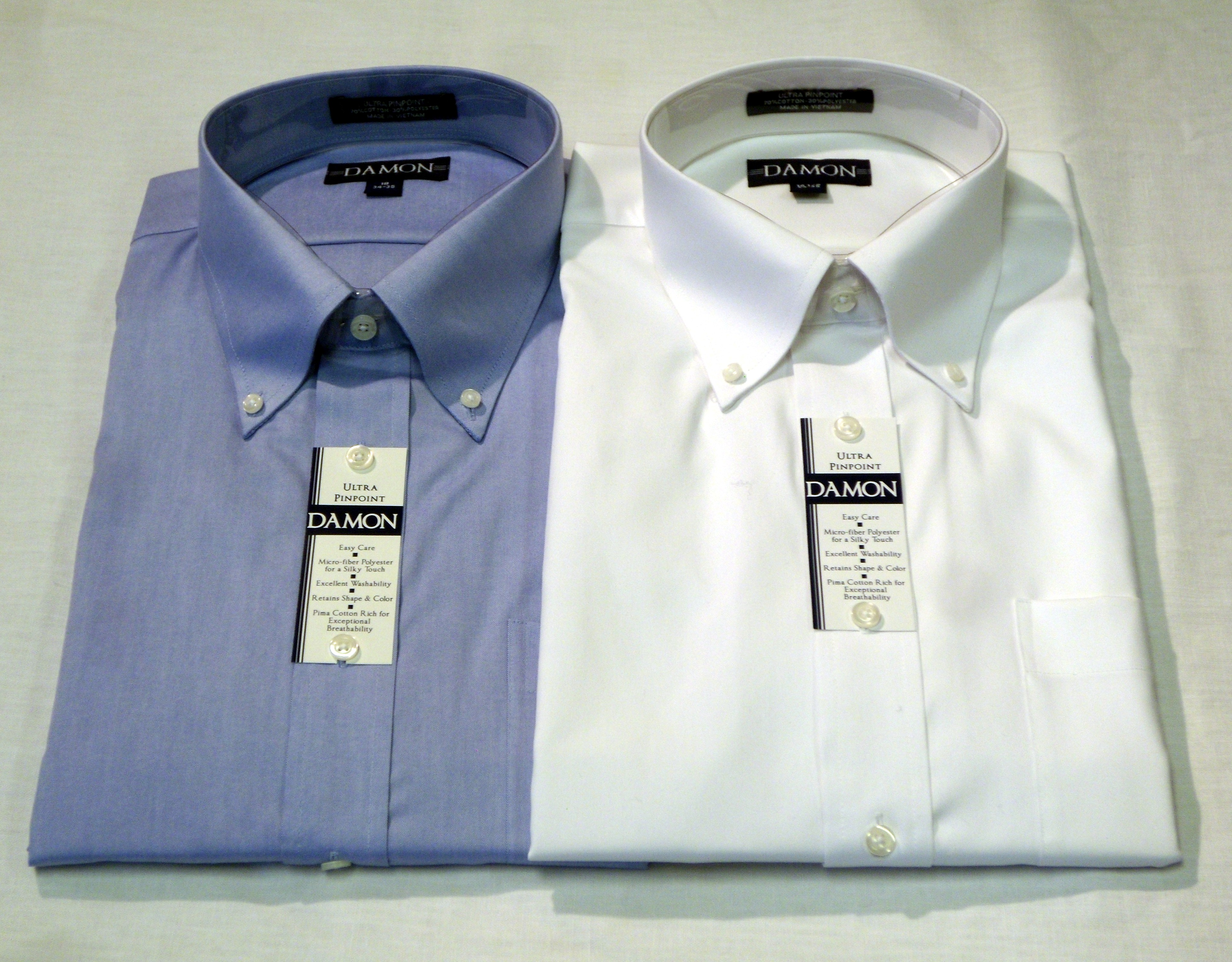 Damon pinpoint button down collar buffalo ny for Pinpoint button down dress shirt