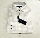 Blu by Polifroni Tan Check Dress Shirt