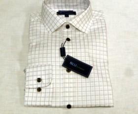 Blu by Polifroni Tan Check Dress Shirt