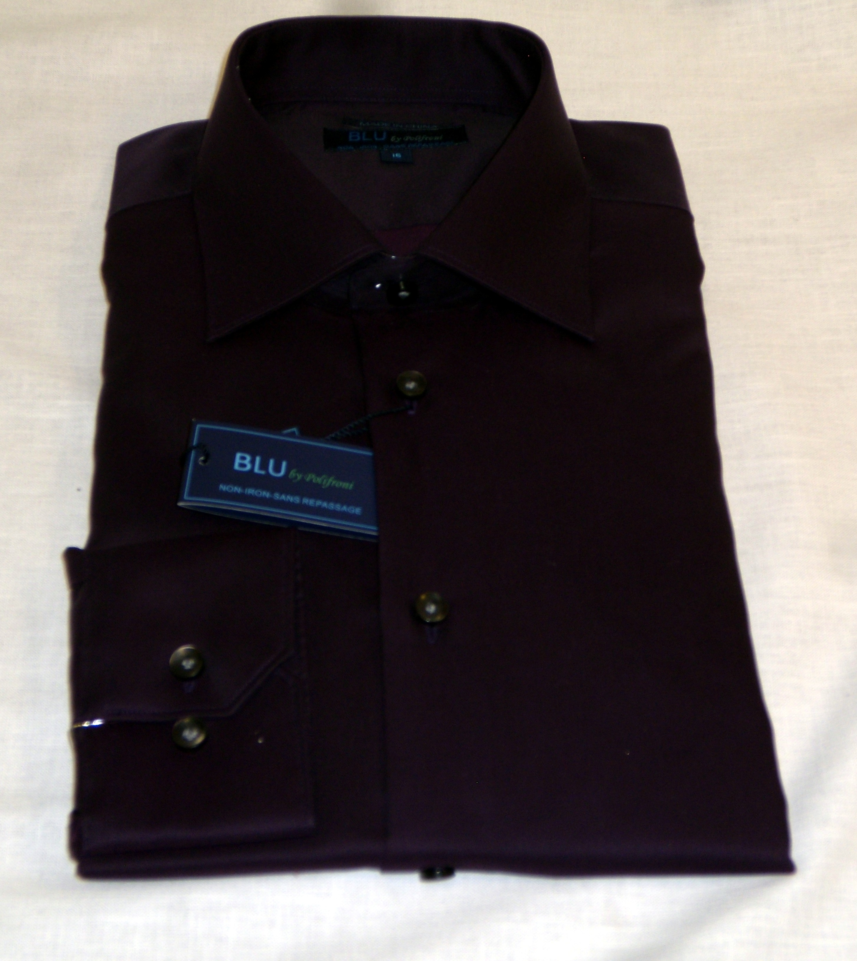 Blu by Polifroni Plum Dress Shirt
