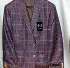Austin Reed Plum Plaid Sport Coat